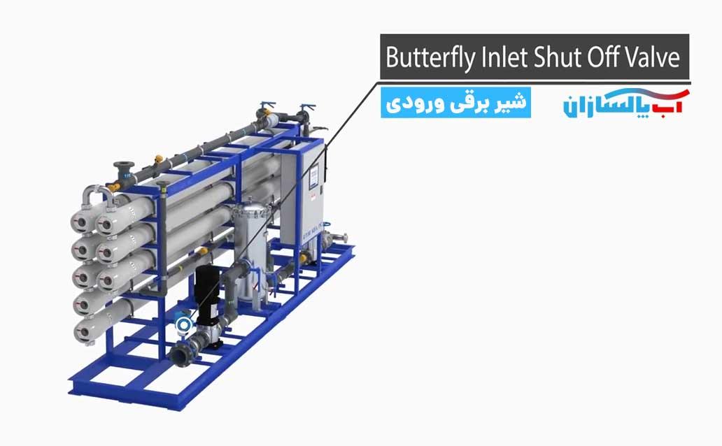 یکی از شیر های برقی دستگاه شیر برقی ورودی یا inlet valve می باشد که وظیفه آن کنترل آب ورودی به دستگاه تصفیه آب می باشد.